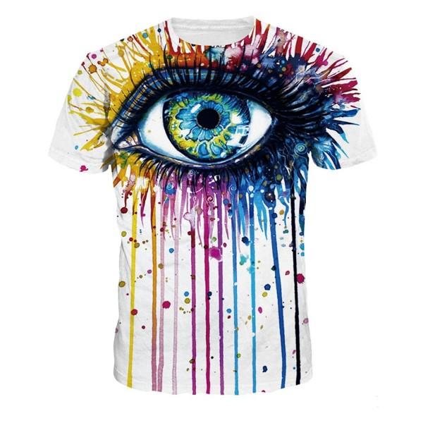 NEWCOSPLAY colorful Printed T Shirt Fashion