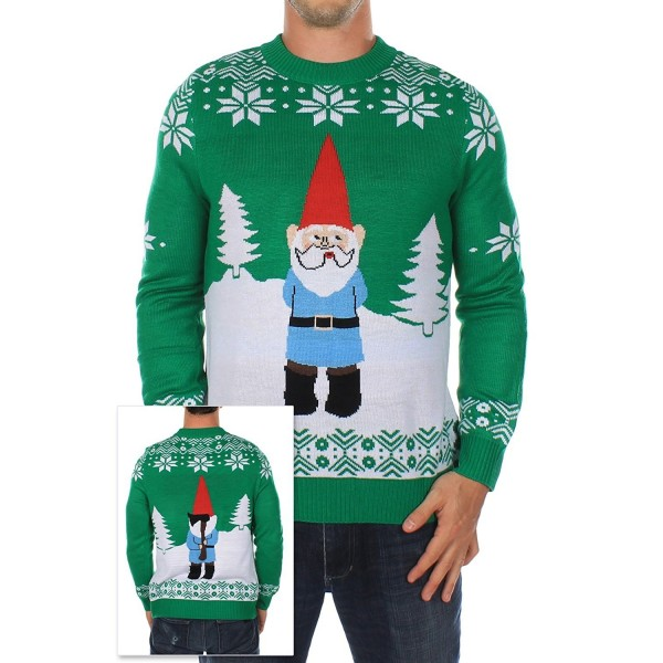 Mens Ugly Christmas Sweater Suspicious