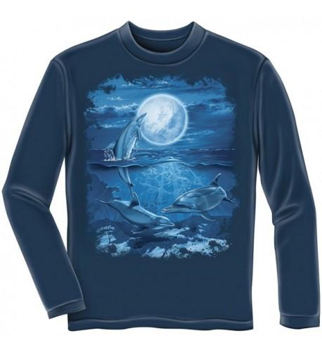 Dolphins Adult Longsleeve Shirt Large