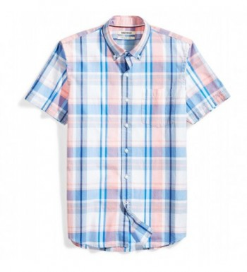 Goodthreads Slim Fit Short Sleeve Large Scale Plaid