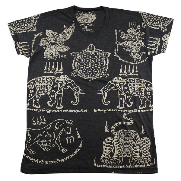 Tattoo elephant turtle T Shirt WK01 2
