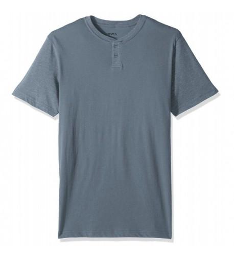 RVCA Mens Henley Shirt Slate