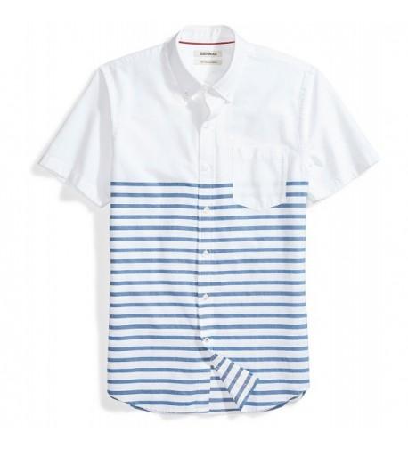 Goodthreads Slim Fit Short Sleeve Placed Stripe Stripes