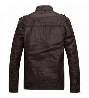 Men's Faux Leather Jackets