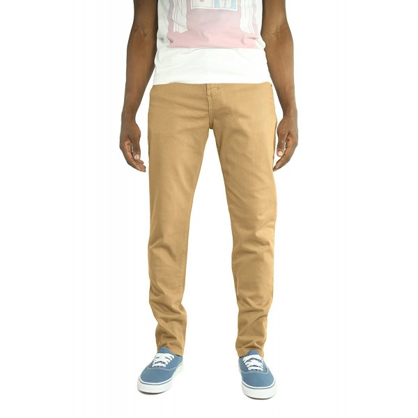 Men's Color Skinny Jeans - Camel - CG189QU8Y7U