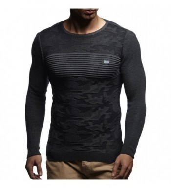 Leif Nelson LN1645 Pullover Anthracite