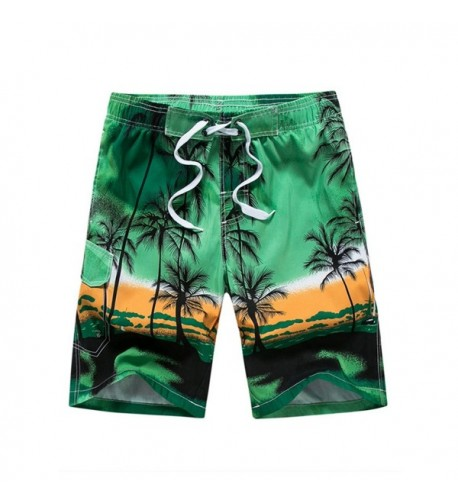 Hanmor Casual Printed Shorts Hawaiian