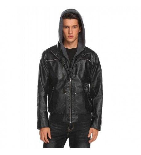 COOFANDY Casual Vantage Leather Motorcycle