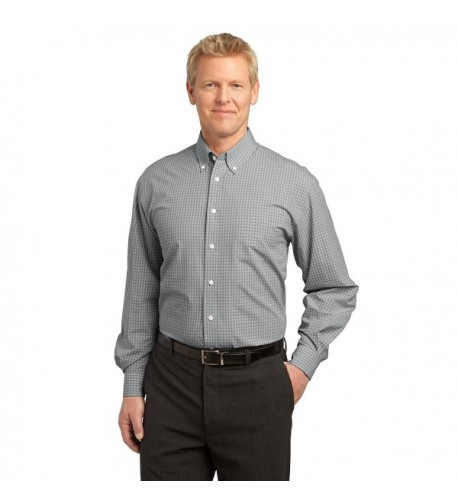 Port Authority Plaid Pattern Charcoal