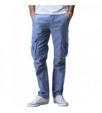 Match Mens Cargo Pants Indigo