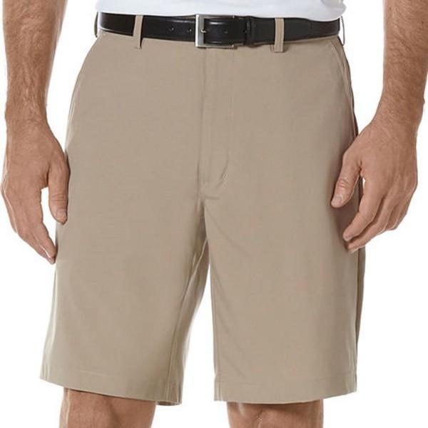 Front Expandable Waist Shorts Khaki