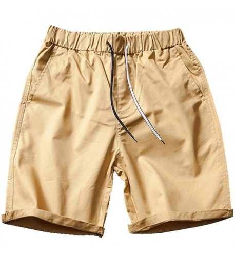 VANCOOG Casual Cotton Pockets Drawstring