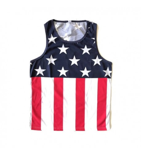 Sleeveless Muscle Vintage American Stripes