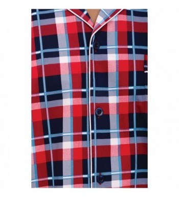 2b3b8070bf Alexander Del Rossa Button Down A0697R14LG  Men s Pajama Sets Clearance ...