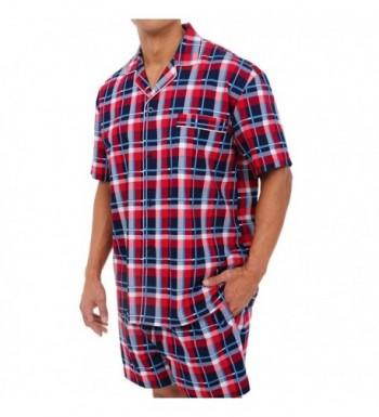 1def8d1650 Alexander Del Rossa Button Down A0697R14LG  Men s Pajama Sets Clearance  Sale  Fashion Men s Sleepwear Clearance Sale