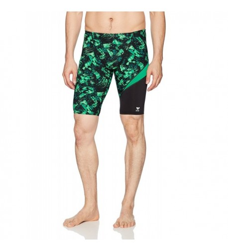 TYR Mens Emulsion Jammer Green
