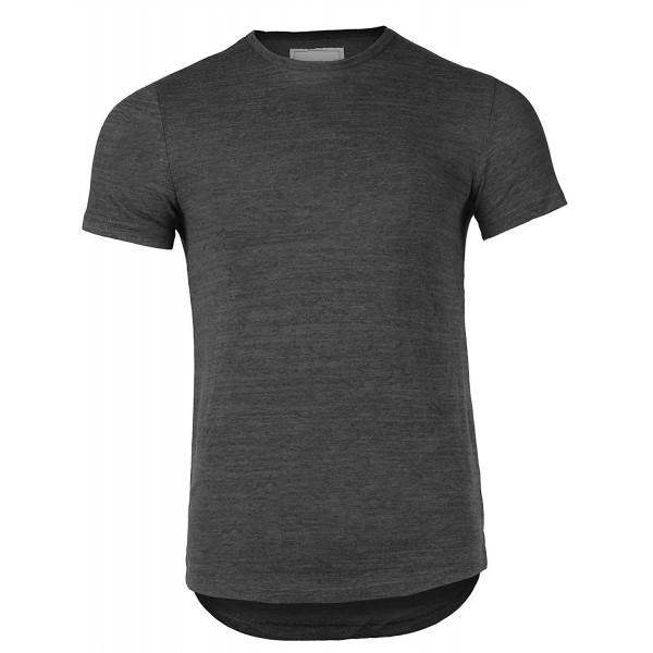 Breathable Stretch Crewneck T shirt Charcoal