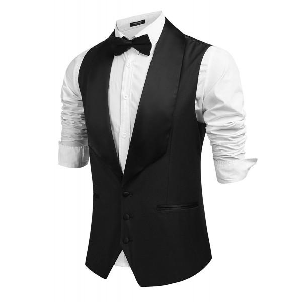Coofandy V Neck Dress Sleeveless Waistcoat