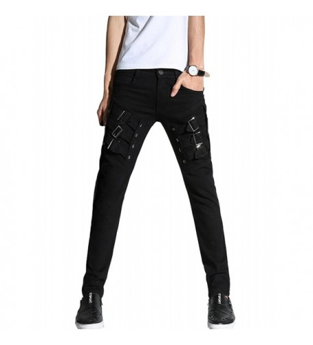 DSDZ Motocycle Skinny Pants Black