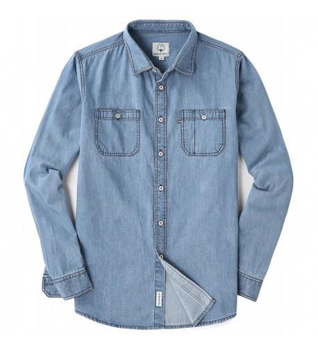 Mocotono Sleeve Denim Double Pocket Shirt