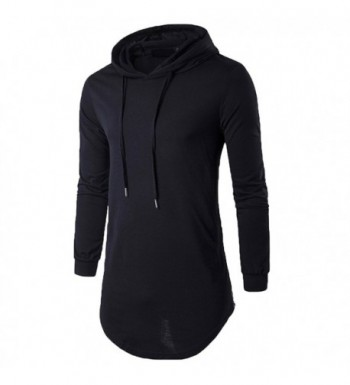 Elonglin Hipster T Shirt Hooded Asymmetric