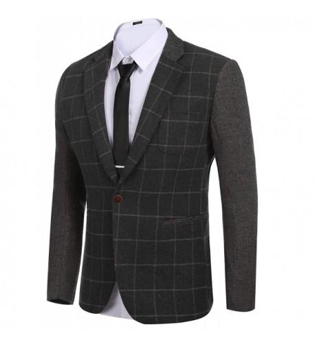 COOFANDY Elegant Regular Button Blazer