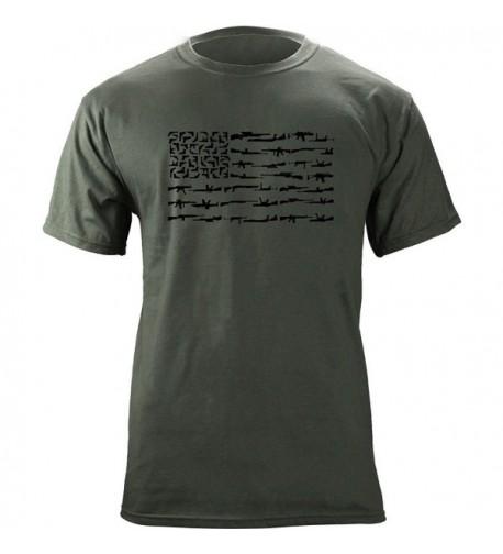 Molon Freedom Black T Shirt Green