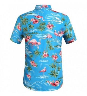 a4fc21442 SSLR Flowers Flamingos Casual Hawaiian; Cheap Real Men's Casual Button-Down  Shirts Outlet ...