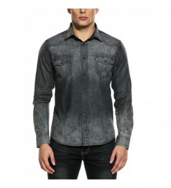 COOFANDY Casual Sleeve Button Shirts