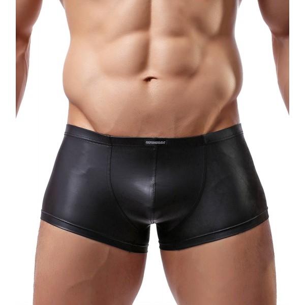 Imitation Leather Underwear Briefs C33