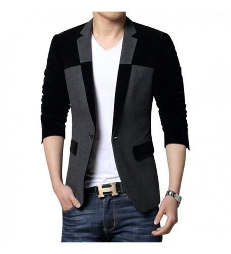 MOGU Button Center Blazer Jacket
