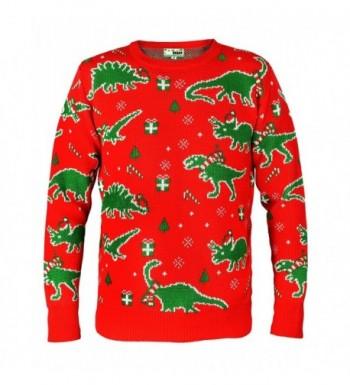 Saurheads Dinosaur Christmas Sweater X Large