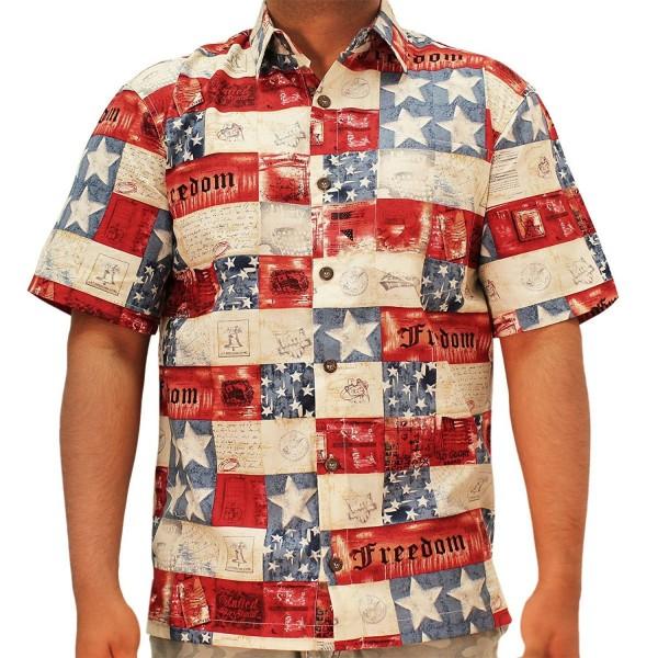 Freedom Hawaiian Shirt Medium Multi