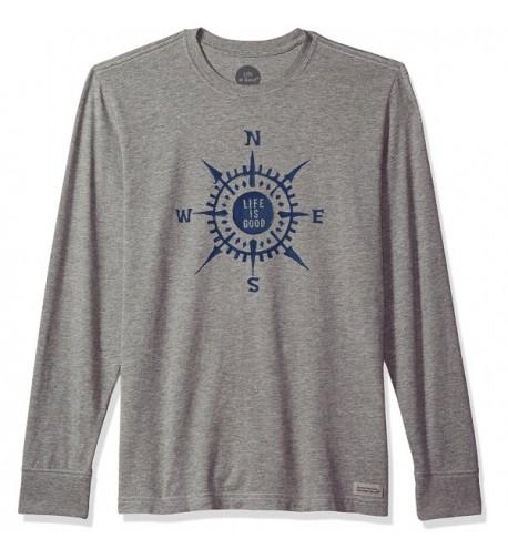 Life Crusher Compass T Shirt Heather