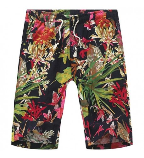 African Floral Draw string Lounge Boardshorts