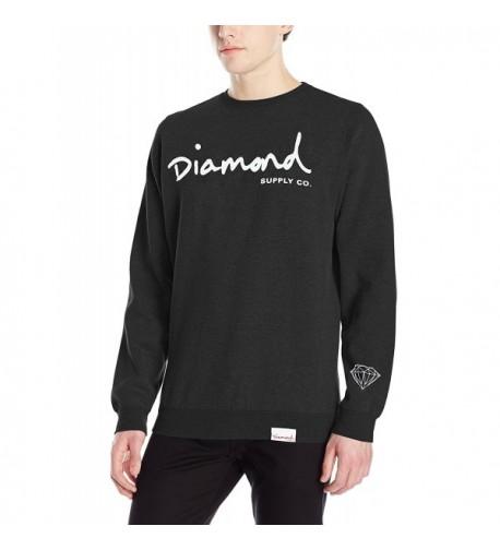 Diamond Supply Script Crewneck Black
