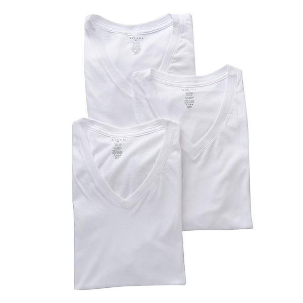 Van Heusen Mens V Neck White
