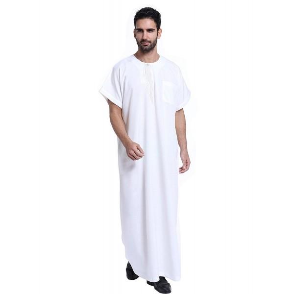 GladThink Muslim Thobe Short Sleeves