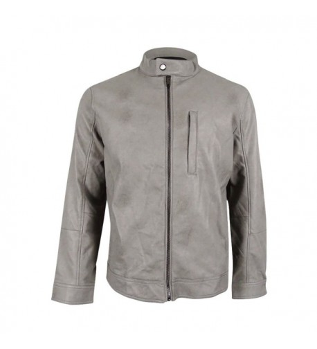 Alfani Mens Faux Leather Bomber Jacket