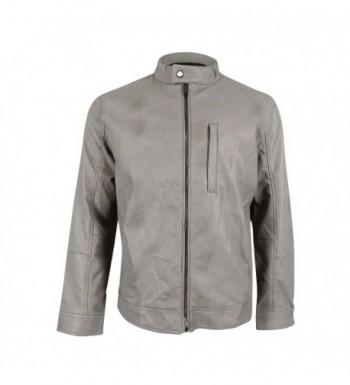 Alfani Mens Faux Leather Bomber Jacket