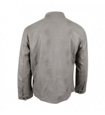 Cheap Real Men's Faux Leather Jackets for Sale