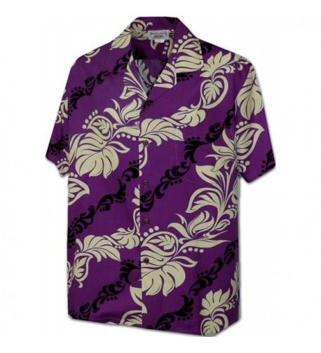 Hawaiian Leis Aloha Shirt 3876Purple