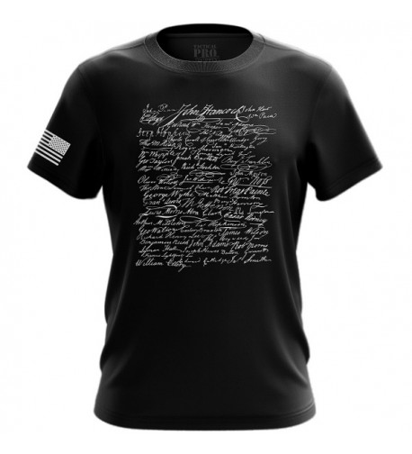 Declaration Independence T Shirt Black Medium