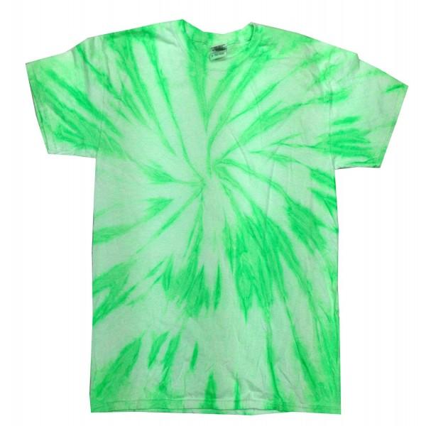 Colortone Tie T Shirt Neon Kiwi