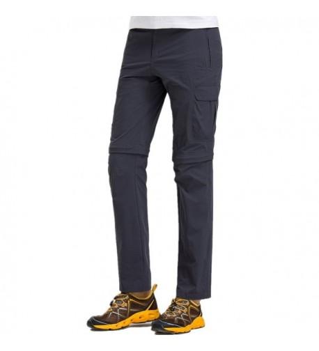 Lightweight Convertible Shorts Camping Pants Grey
