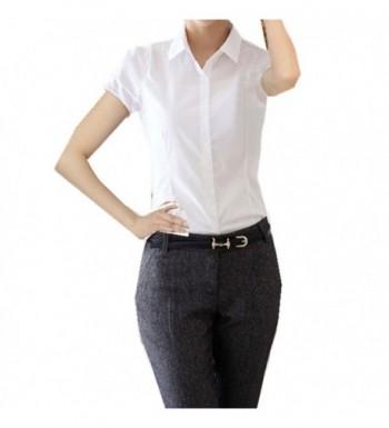 Taiduosheng Women Button Sleeve Blouse