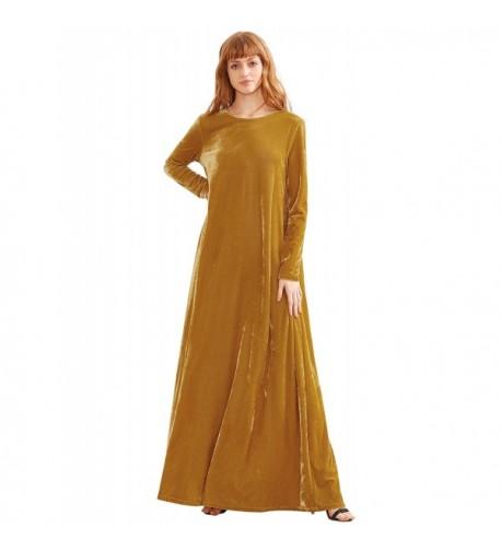 MakeMeChic Womens Elegant Sleeve Velvet