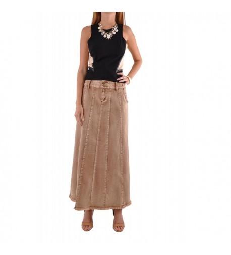 Style Flawless Beauty Denim Skirt Brown 26