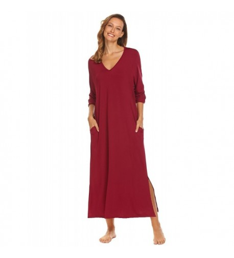 Aimado Sleepwear Nightgown Nightdress Purplish