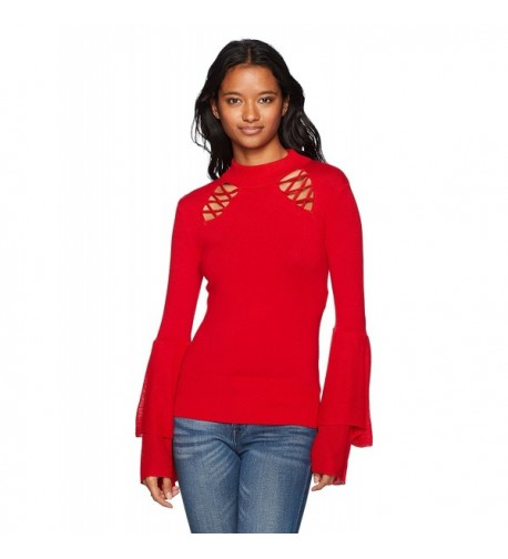 XOXO Womens Mockneck Sleeve Sweater